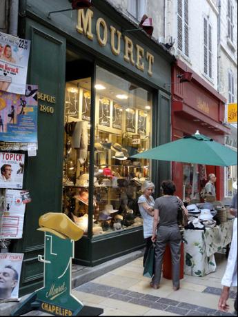HutGeschäft in Avignon seit 1860