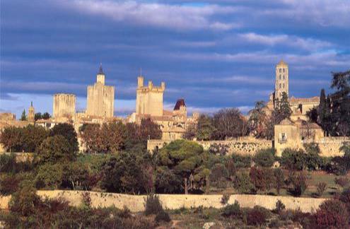 Uzès dans le Gard, vue générale