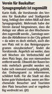Verein für Baukultur und Stadtgestaltung Kaiserslautern e. v. - Synagogenplatz