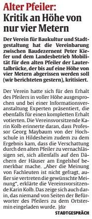 Verein für Baukultur und Stadtgestaltung Kaiserslautern e. V. -Brückenpfeiler