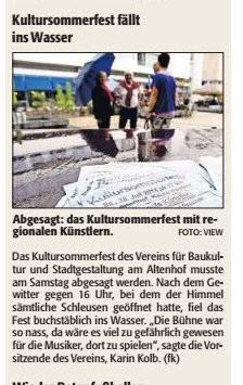Verein für Baukultur und Stadtgestaltung Kaiserslautern e. V. - Absage Kultursommerfest 2014