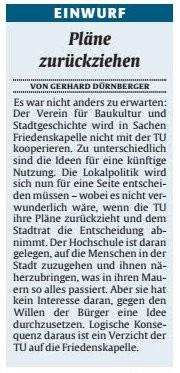 Verein für Baukultur und Stadtgestaltung Kaiserslauter e. V. - Friedenskapelle
