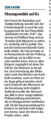Verein für Baukultur und Stadtgestaltung Kaiserslautern e. V. - Fliesenbild