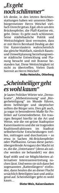 Verein für Baukultur und Stadtgestaltung Kaiserslautern e. V. - Brückepfeiler
