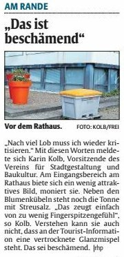 Verein für Baukultur und Stadtgestaltung Kaiserslautern e. V. -Verschmutzung
