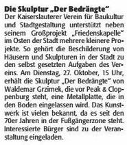 Verein für Baukultur und Stadtgestaltung Kaiserslautern e. V. - Der Bedrängte