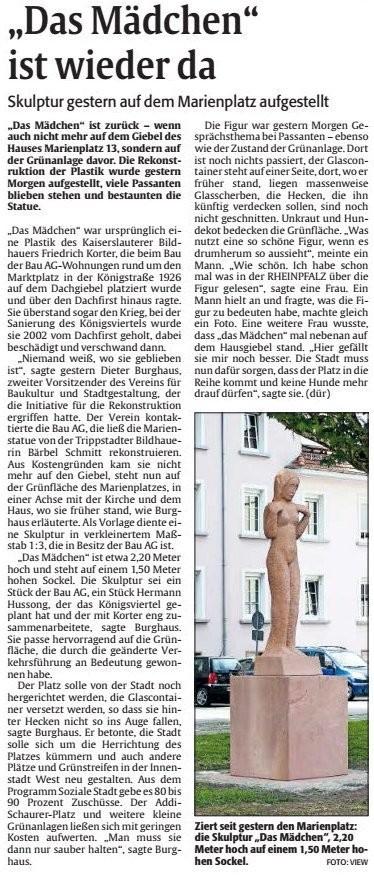 Verein für Baukultur und Stadtgestaltung Kaiserslautern e. V. - Korter-Plastik