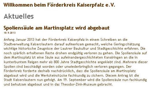Verein für Baukultur und Stadtgestaltung Kaiserslautern e. V. - Screenshot