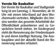 Verein für Baukultur und Stadtgestaltung Kaiserslautern e. V. - Aktion - Wochenmarkt