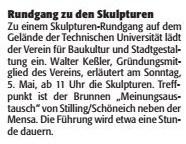Verein für Baukultur und Stadtgestaltung Kaiserslautern e. V. - Skulpturen
