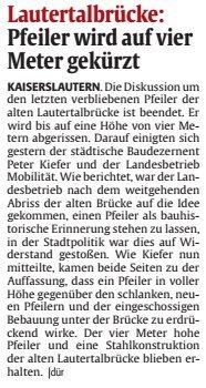Verein für Baukultur und Stadtgestaltung Kaiserslautern e. V. - Brückenpfeiler