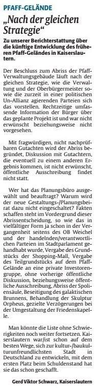 Verein für Baukultur und Stadtgestaltung Kaiserslautern e. V. - Pfaffgelände