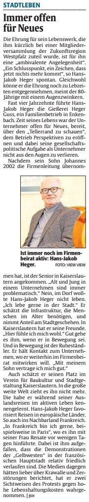 Verein für Baukultur und Stadtgestaltung Kaiserslautern e. V. - Heger