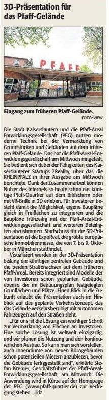 Vereinf ür Baukultur und Stadtgestaltung Kaiserslautern e. V. - Pfaffgelände