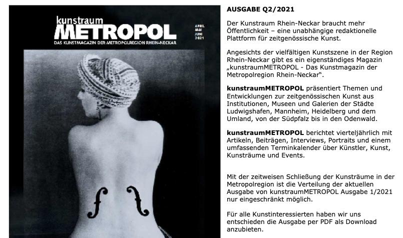Kunstraum Metropol - auch online