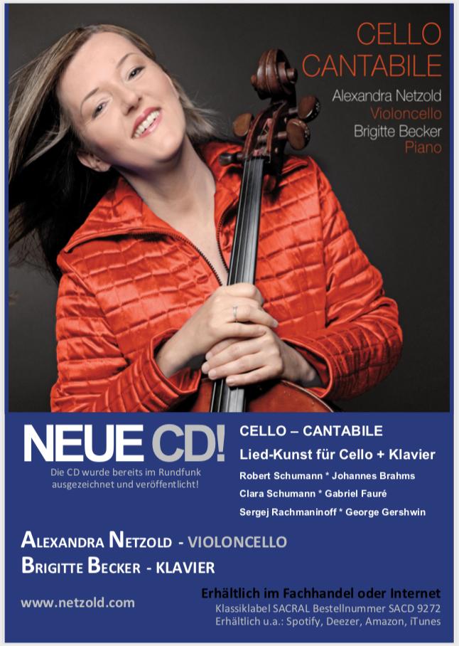CD jetzt erhältlich! Cello Cantabile