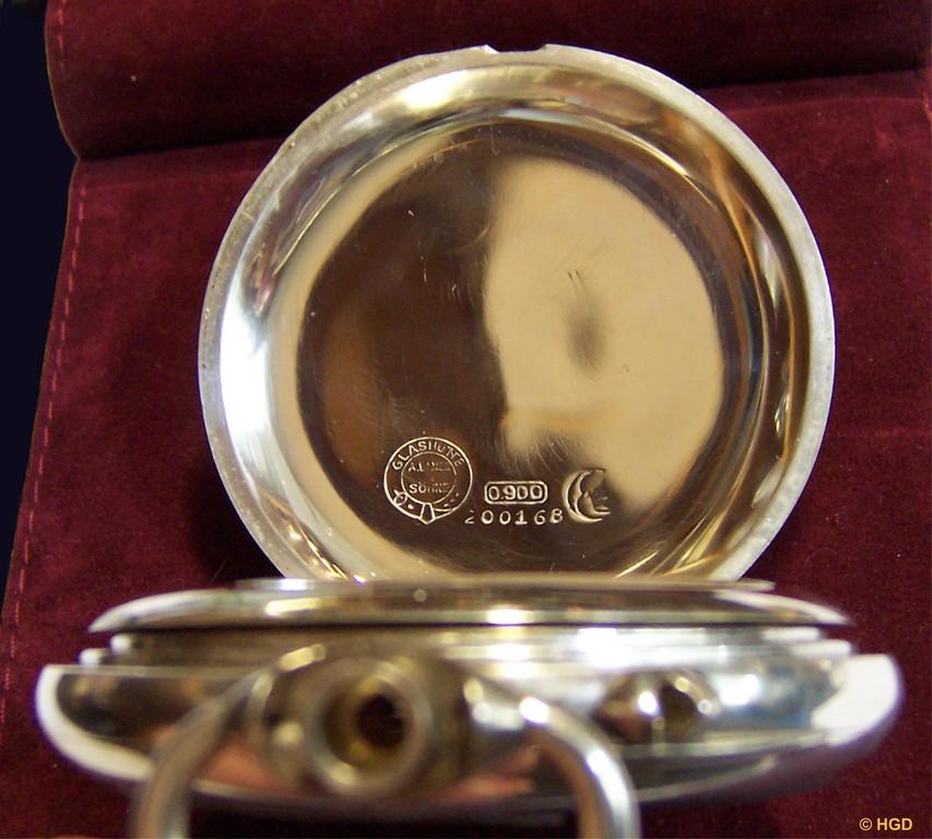 Lange Schutzmarke, Reichspunze für Silber mit Feingehaltsstempel