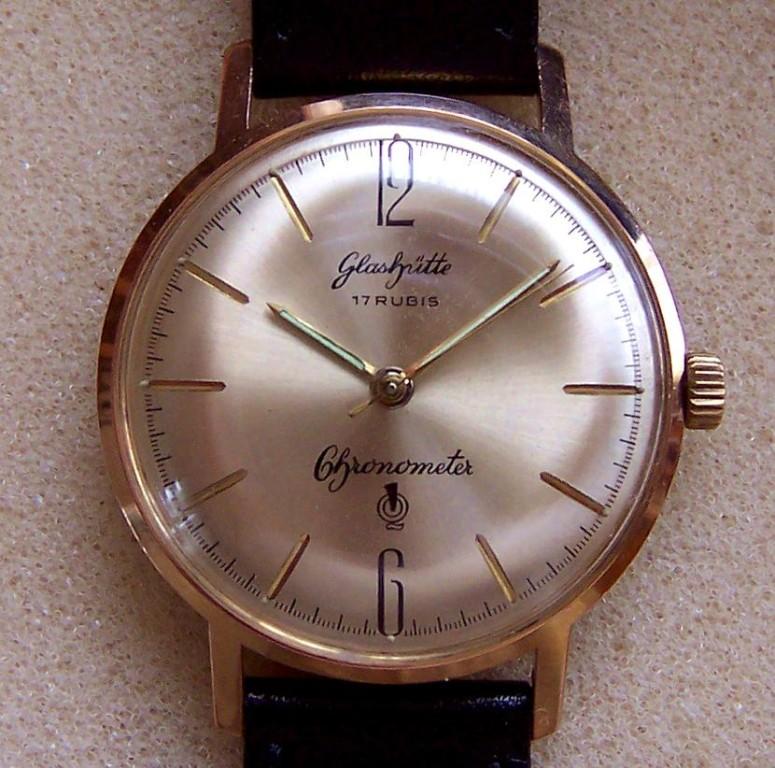Glashütte Chronometer Kaliber 70.3 mit Deckelprägung