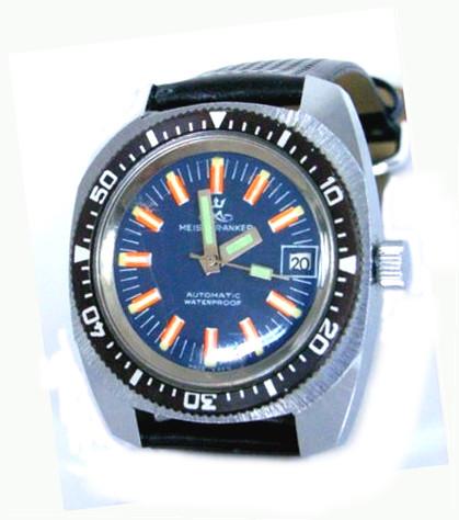 """Für das Verandhaus """"Quelle"""" gefertigte Uhr im Taucherdesingn mit Spezimatic-Werk Kal.75"""