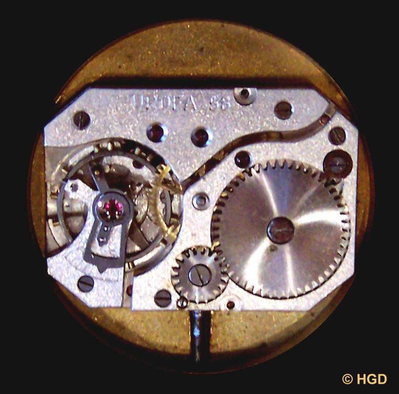 58 & Stoßsicherung in HAU der Uhrenfabrik Ernst Wagner (ERWA), gegr. 1933 in Pforzheim