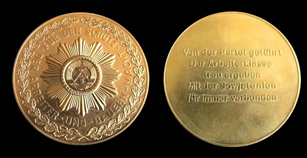 Medallie zur Auszeichnungsuhr der Organe des Ministeriums des Inneren der DDR