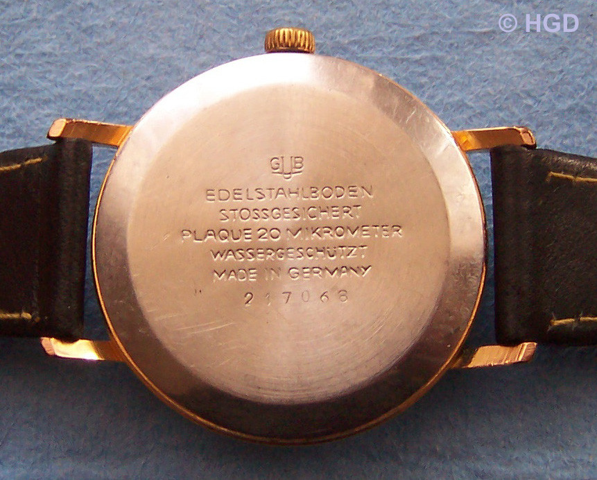 GUB Kal.69.1 Edelstahldruckdeckel für 36 mm Gehäuse