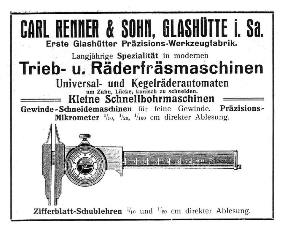 Werbung in Saxoniabericht Nr.12 1914