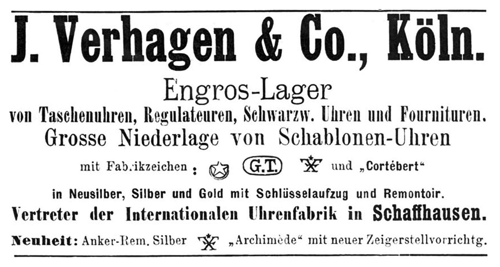 Deutsche Uhrmacher-Zeitung Nr. 7 vom 01. April 1887, Anzeigeteil
