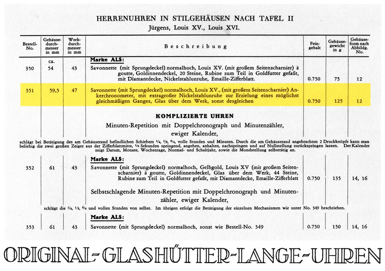Auszug AlLS Katalog 1932