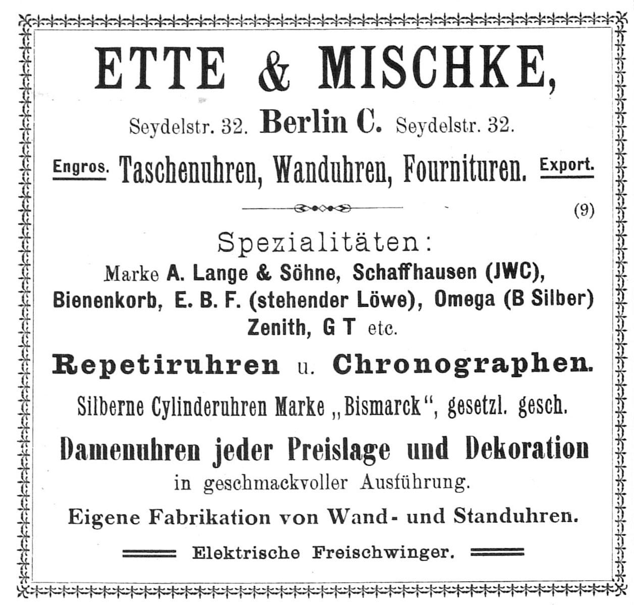 Quelle: Allgemeines Journal der Uhrmacherkunst Nr.2 von 1902