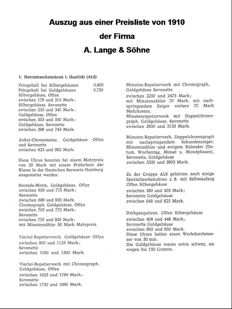ALS Preisblatt 1910