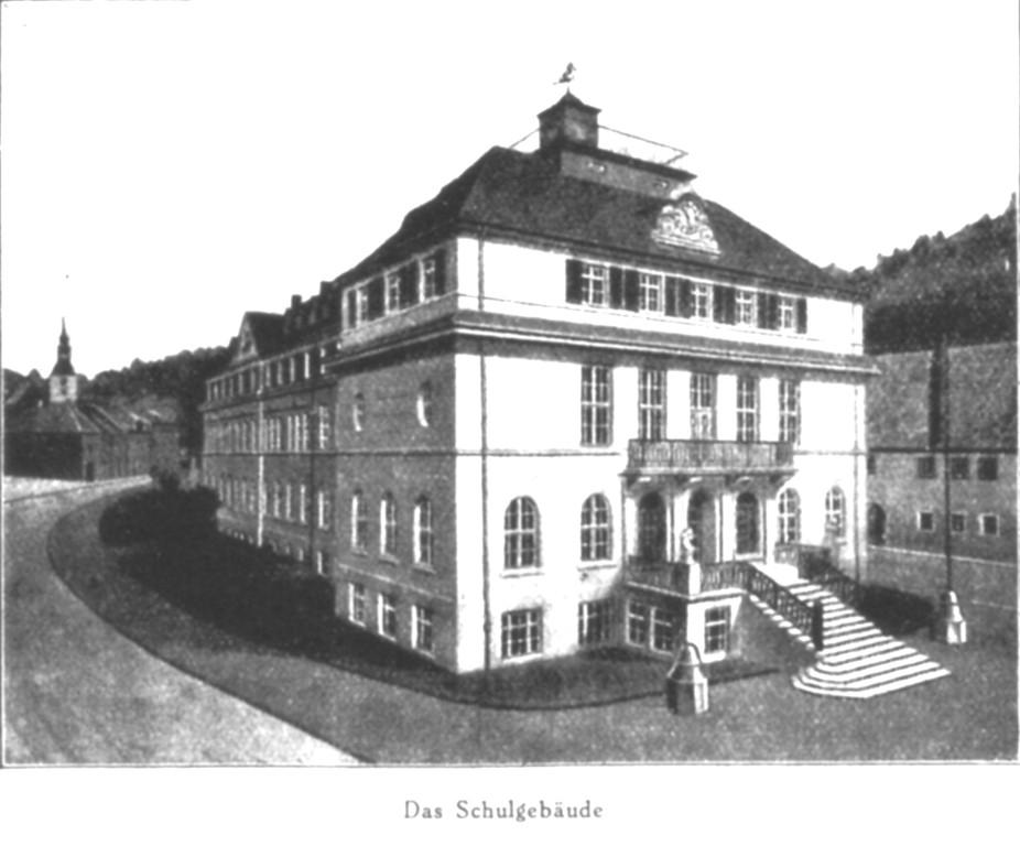 Das Schulgebäude 1925