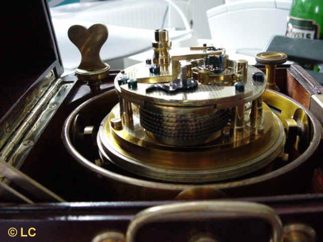2.. Detailansicht des Chronometerwerkes