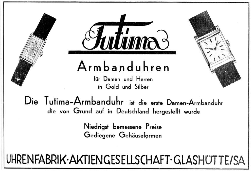 Werbung für Tutima Armbanduhren vom 10.10.1931
