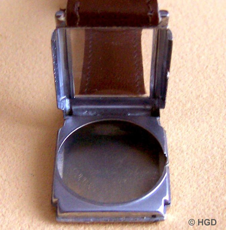 Nickel/Chrom Klappscharniergehäuse der Uhr