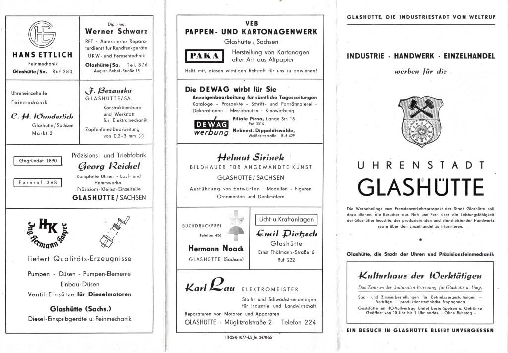 Industriewerbung Glashütte 1955  1, Seite