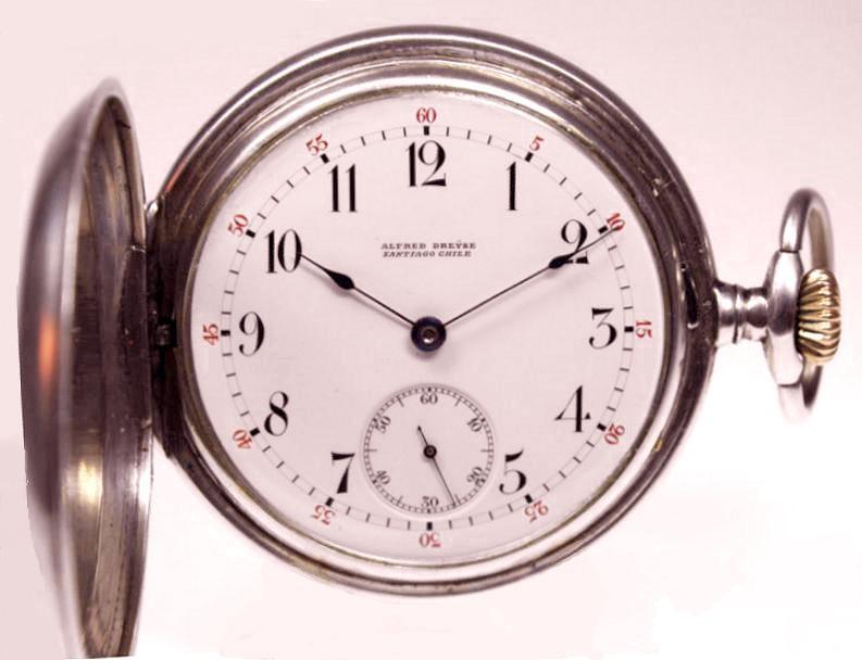 Ankertaschenuhr gefertigt 1904 von Alfred Dresye
