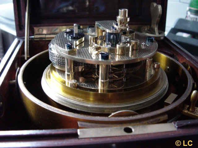 1. Detailansicht des Chronometerwerkes