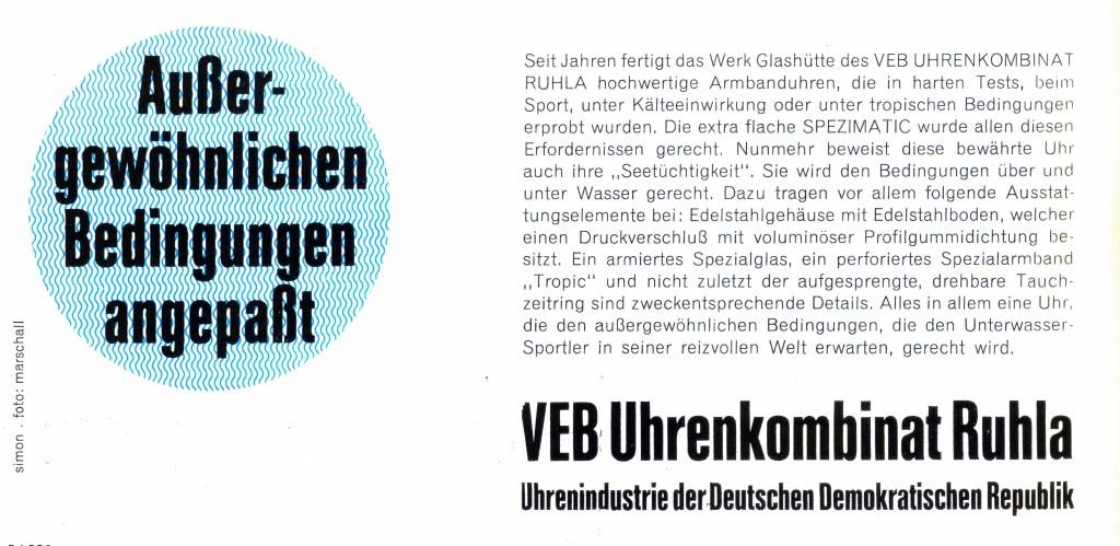 Werbung zur Leipziger Herbstmesse 1969