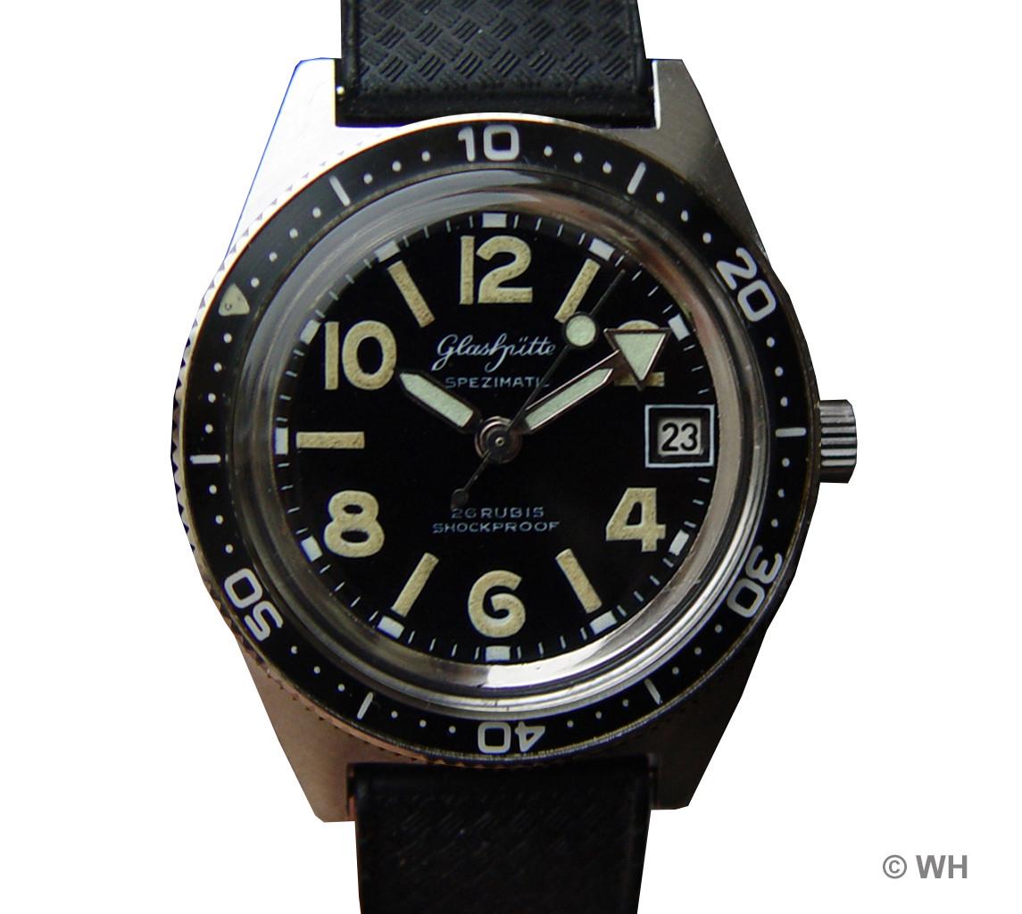 Taucheruhren der GUB Uhrenhersteller und Uhrwerke aus