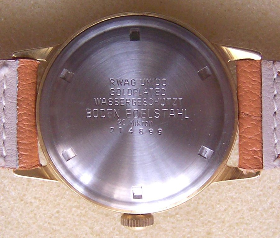 Goldplated Schraubgehäuse der Firma Rodi & Wienenberger AG Pforzheim