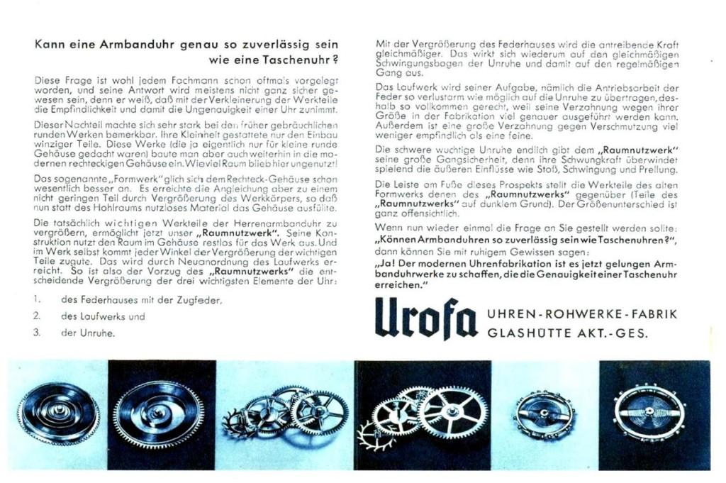 Werbeprospekt der für das Raumnutzwerk Kaliber 58