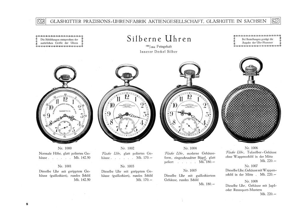 Herrentaschenuhren im Silbergehäuse (Lepine)