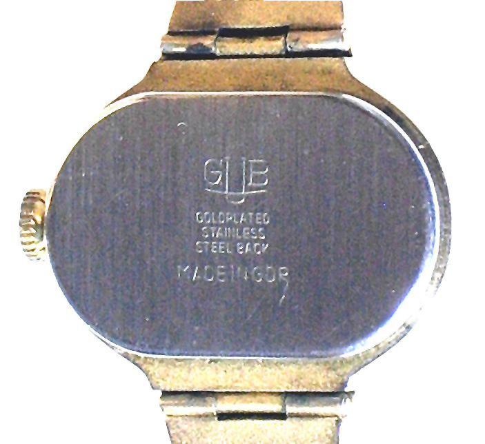 GUB DAU 09 - 60  vergoldetes Gehäuseoberteil & gedrücktes Edelstahl Unterteil