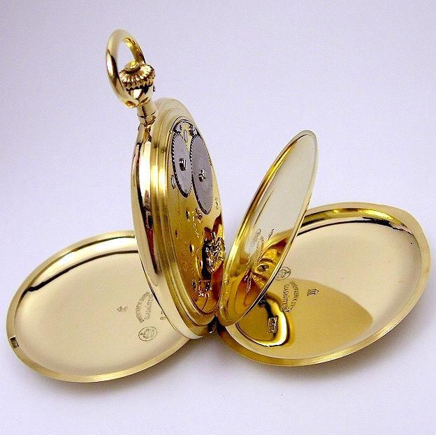 Drei Deckel Goldgehäuse der Savonette