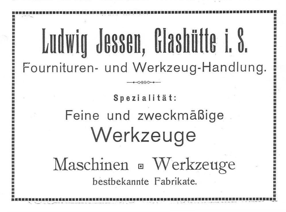 Werbung in Saxoniabericht Nr.6 1910