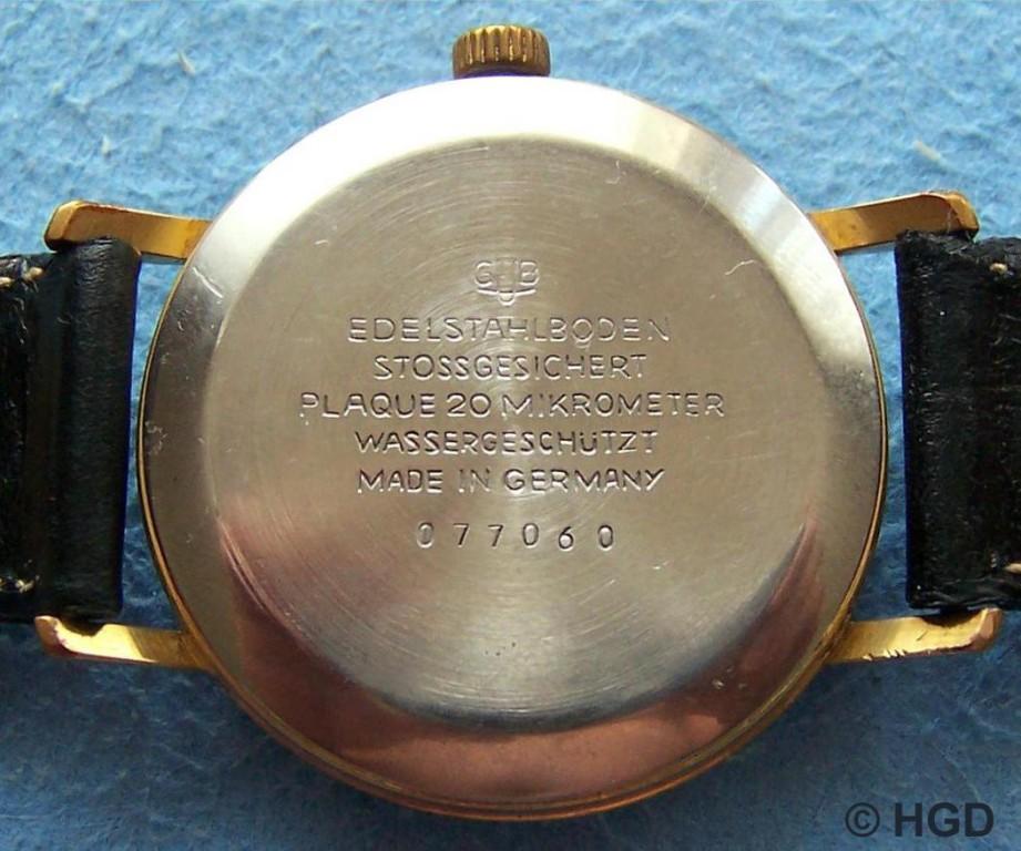 GUB Kaliber 70.1, gedrückter Edelstahldeckel