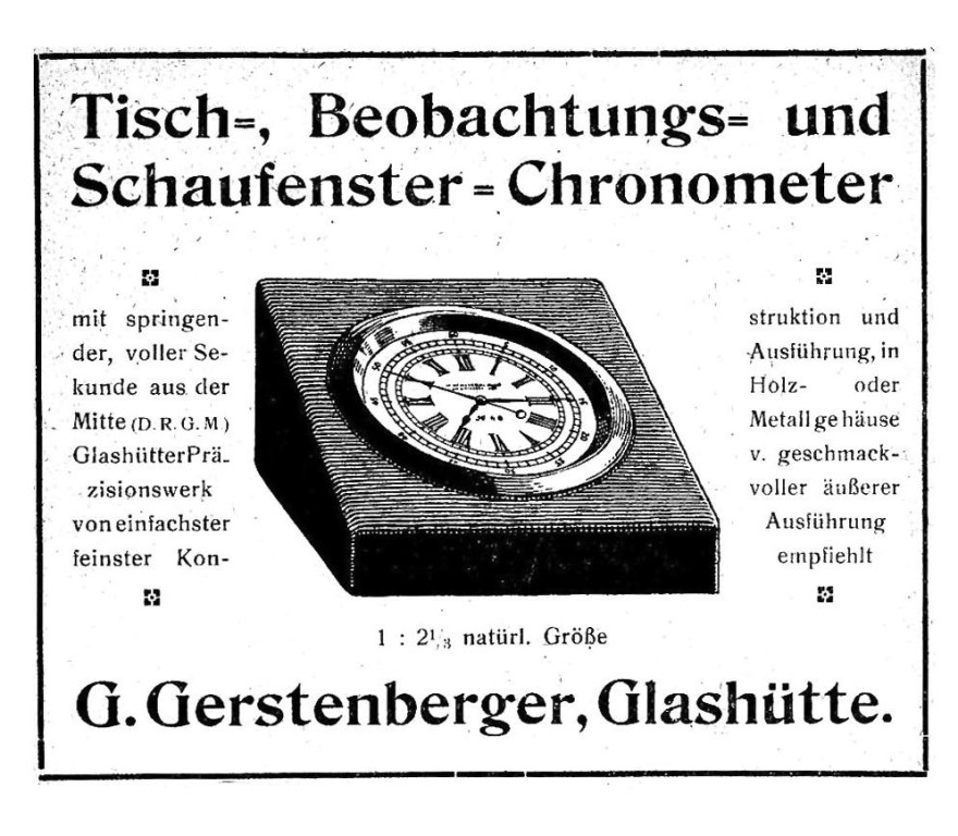 Werbung in Saxoniabericht 1921