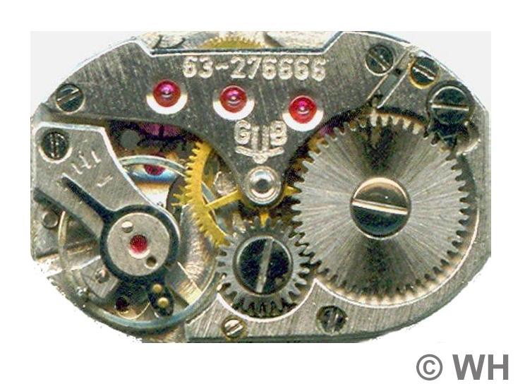 GUB Kal. 63 mit monometallischer Ringunruh, Werkseite