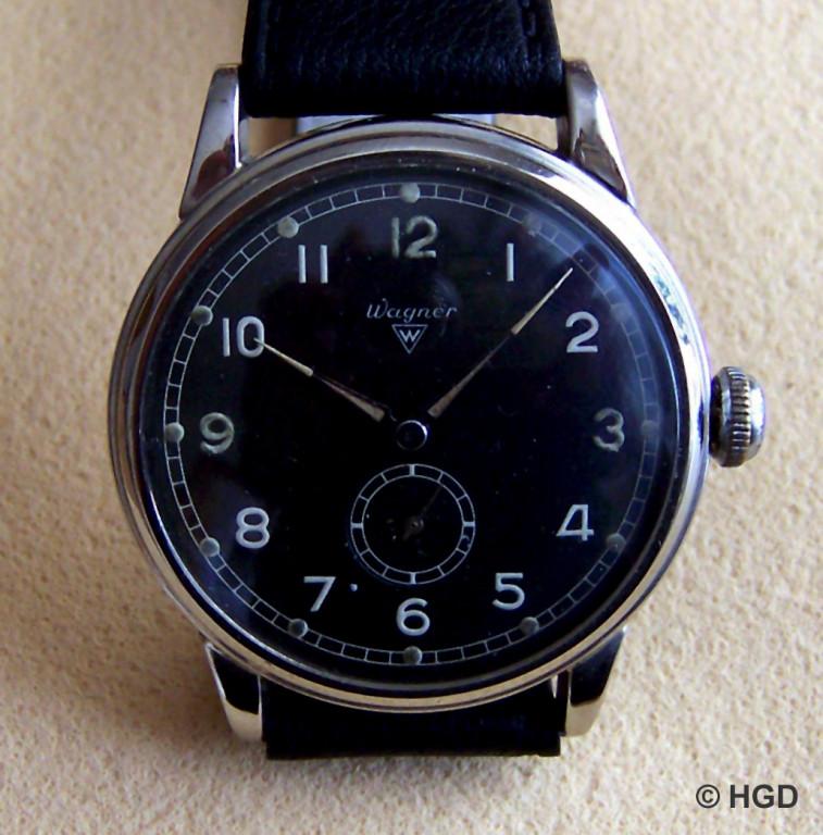 HAU Wagner Urofa 58 mit Stoßsicherung - Uhrenfabrik Ernst Wagner (ERWA), gegr. 1933 in Pforzheim